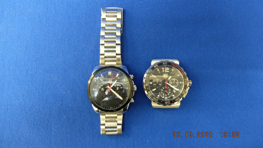 Two designer style watches - Image 2 of 2