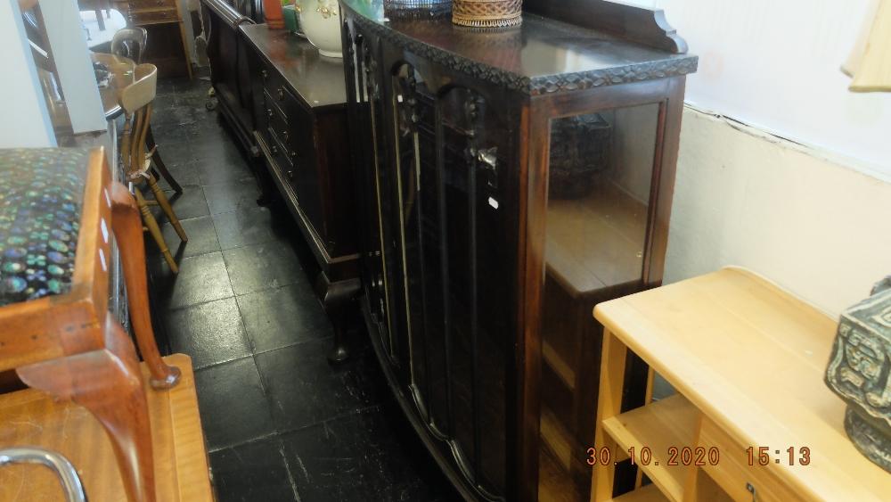 A mahogany display cabinet - Image 2 of 2