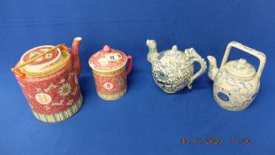 Four Chinese teapots