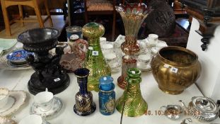 A collection of Persian and Islamic overlay glassware