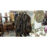 A vintage mink ladies fur jacket,