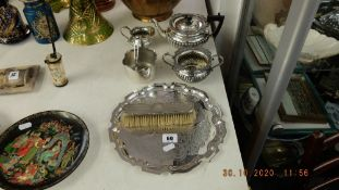A qty of silver plate and silver