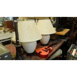 A pair of decorative lamps