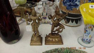 Two Hindu god figures