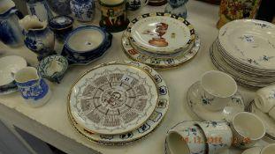 A qty of cricket memorabilia plates