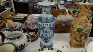 A Delft vase,