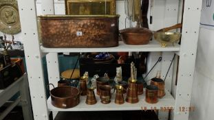 A large qty of copper ware