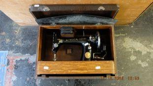 A singer sewing machine,