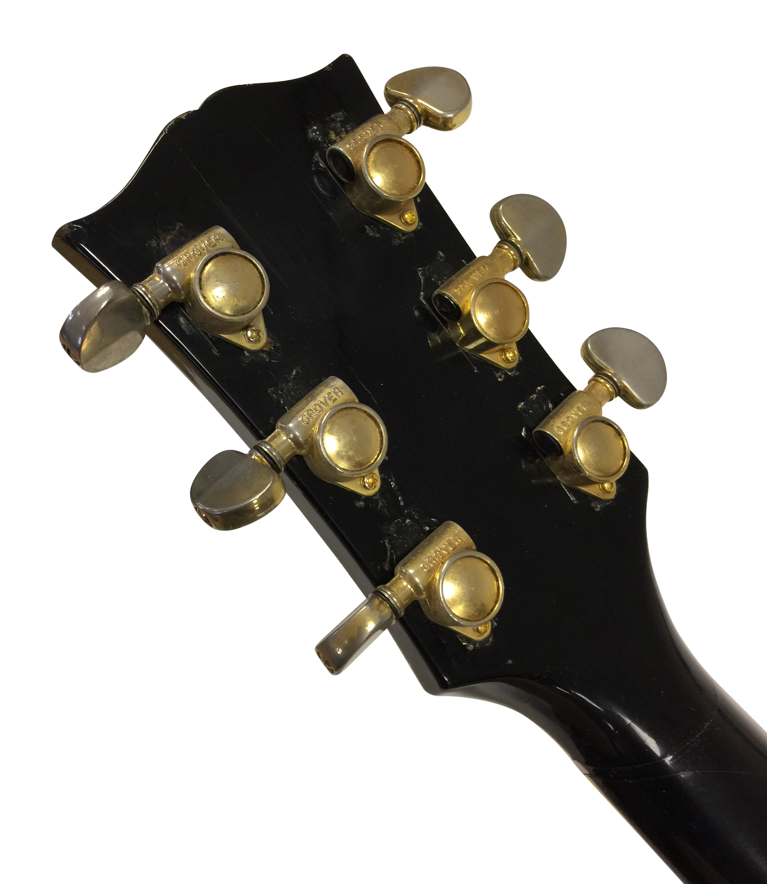 Lot 27 - GIBSON LES PAUL CUSTOM 1969 BLACK BEAUTY ELECTRIC GUITAR - OWNED BY BILLY DUFFY OF THE CULT.
