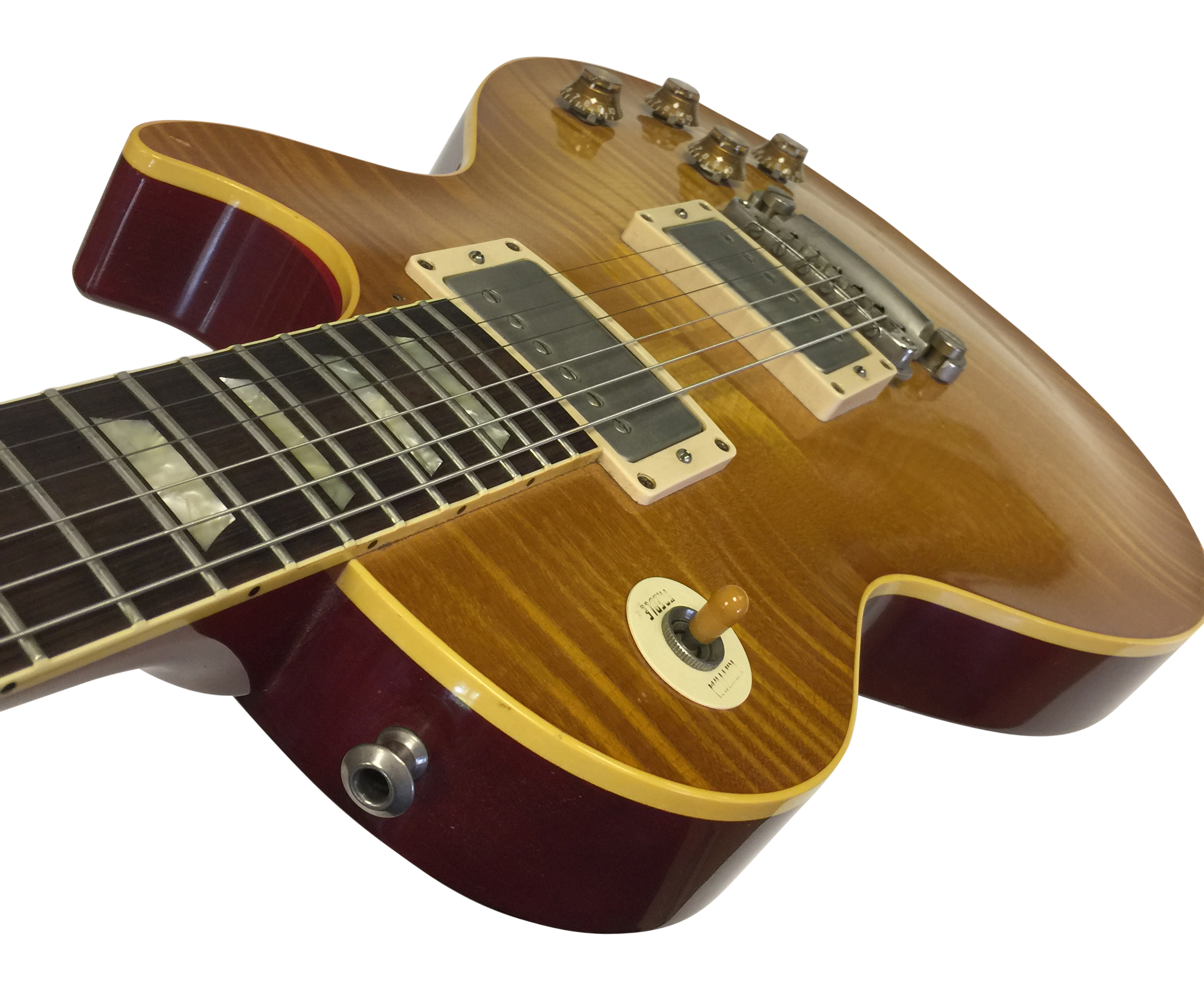 Lot 21 - GIBSON LES PAUL 1959 MAPLE FLAME COPY ELECTRIC GUITAR. In superb condition . Serial 9 1447.