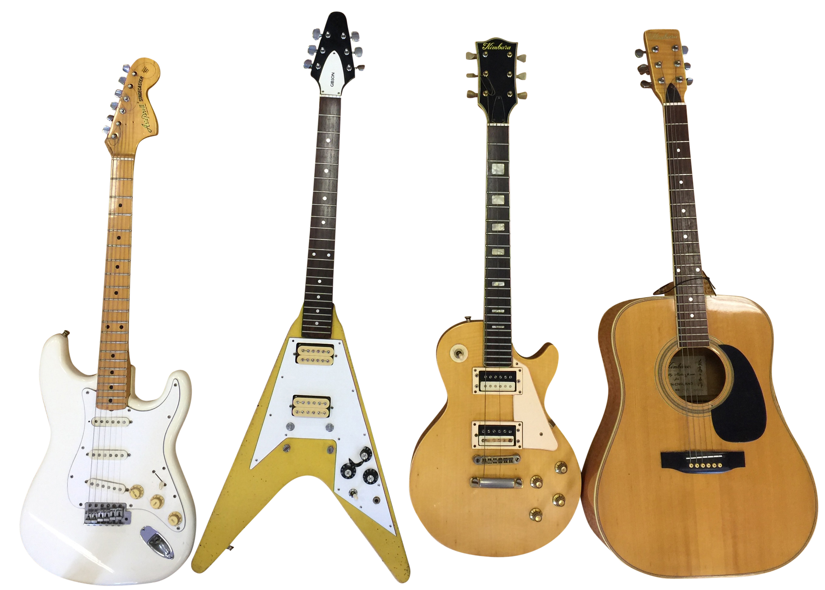 Lot 9 - FOUR GUITARS.