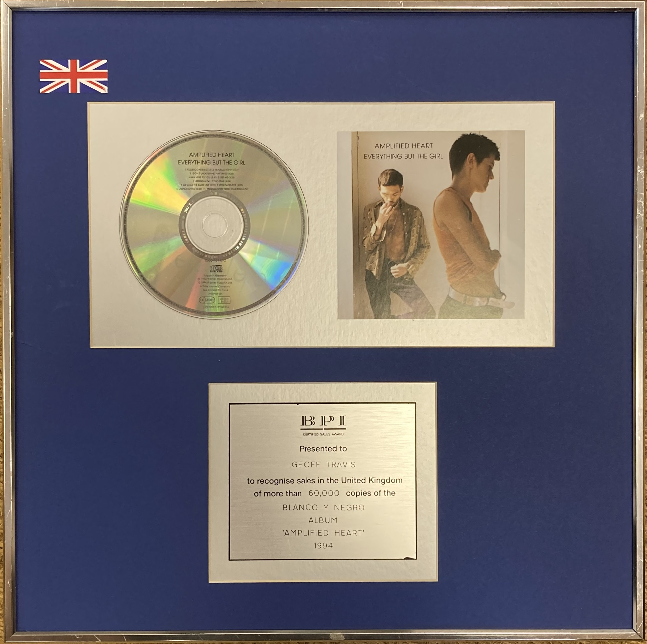 EVERYTHING BUT THE GIRL BPI DISCS. - Image 2 of 5