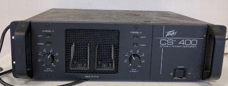 PEAVEY POWER AMP CS-400. a Peavey Power Amp CS-400.
