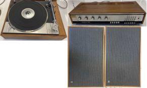 HMV LENCO 2405 TURNTABLE / AMPLIFIER AND SPEAKERS