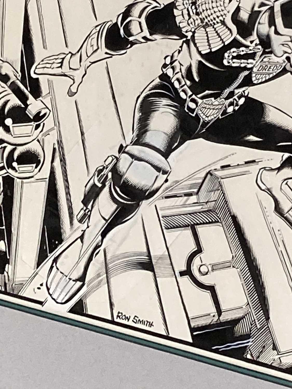 1983 JUDGE DREDD RON SMITH ORIGINAL ART - Image 3 of 4