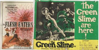 GREEN SLIME UK QUAD / FLESH EATERS 1964 POSTERS