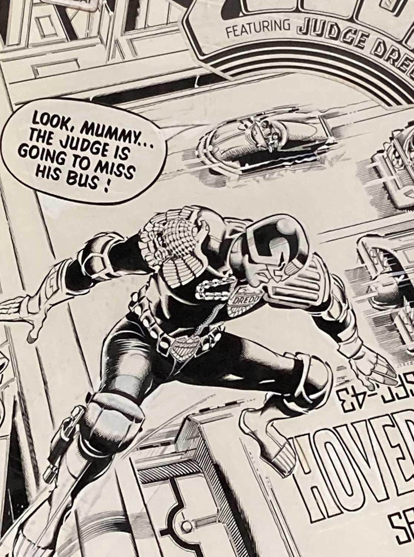 1983 JUDGE DREDD RON SMITH ORIGINAL ART - Image 2 of 4