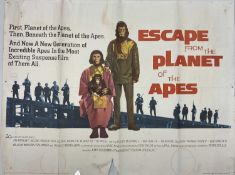 ESCAPE FROM THE PLANET OF THE APES UK QUAD POSTER