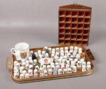 A collection of ceramic Thimbles, Spode, Royal Worcester, Wedgwood examples