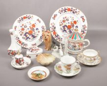 A collection of ceramics, to include Royal Worcester, Aynsley Bird of Paradise, Sylvac etc. Chip