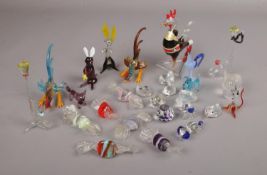 A collection of decorative glassware, to include Swarovski, animals, sweets etc.