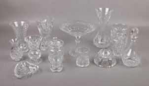 A collection of cut glass crystal, to include Stuart examples.