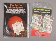 Manchester United Football Club interest; two matchday programmes, FA Cup semi final 1977 with