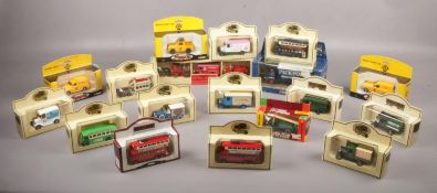 A collection of boxed die-cast vehicles, Corgi, Days gone Lledo examples. 1920's Ford Tanker,