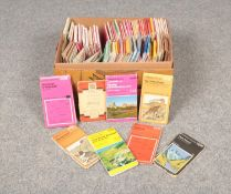 A box of Ordnance survey maps to include; Lake District, Bristol & Bath, Clan maps of the Scottish