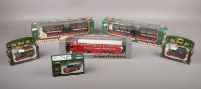 Five Corgi boxed Eddie Stobart die cast vehicles, Land Rover 07402, Volvo Short Wheelbase Lorry