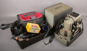 A collection of photographic equipment, to include Canon EOS 1000F SLR camera, Eumig Wien Type 8
