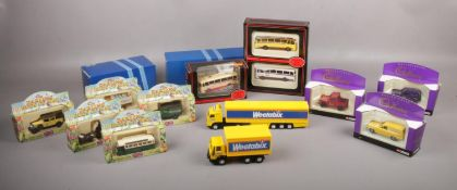 A collection of boxed die cast vehicles, Corgi, Exclusive First Edition examples, Cadbury, The