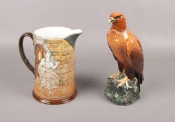 A Beswick Hamlet Jug (1146), included a Royal Doulton Golden Eagle Decanter, modelled by John.G.