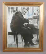 A framed Fats Domino autographed photograph.