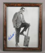 A framed Bo Diddley autographed photograph.