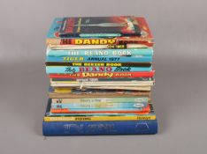 A collection of Annuals, Dandy, Beano, TV21 examples 1968, 1977 1986 editions