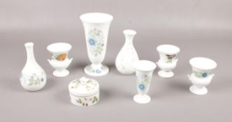 A collection of Wedgwood ceramics, 'Clementine' ' Wild Strawberry' 'campion' , vases, trinkets