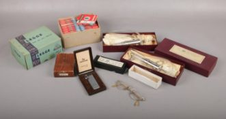 A group of miscellaneous, Corona Magic Eye Lighter, Two boxed The Automatic Pipetting unit,