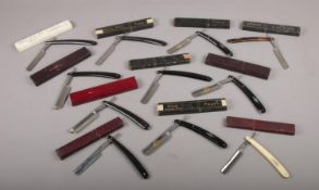 A collection of eleven boxed cut throat razors, to include Glossop, Fagan, Nowill etc.