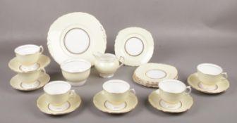A Colclough tea set, cups/saucers, milk jug, sugar bowl, tea plates etc