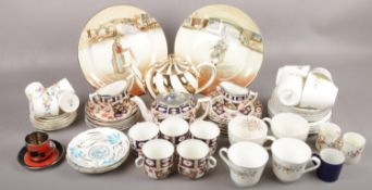 A quantity of ceramics to include Imari pattern teawares, Royal Doulton, Carlton ware cup & saucers,