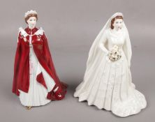 A Royal Worcester porcelain figure of Her Majesty The Queen, In Celebration of The Queen's 80th
