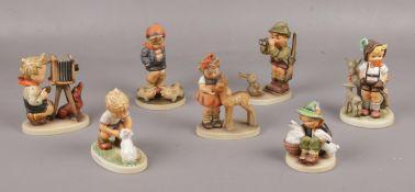 Seven Goebel ceramic figures, Farm Boy Hum 66, Playmates Hum 58, Friends Hum 136 examples to include