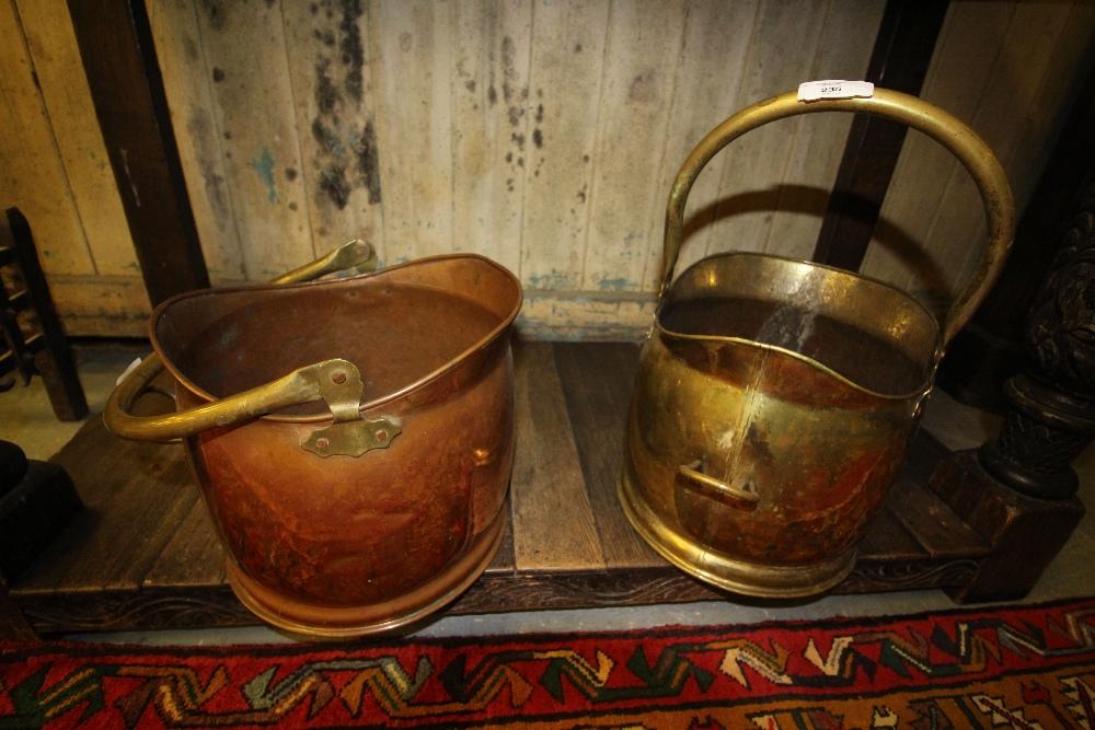 Lot 235 - 2 copper coal buckets