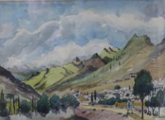 Sydney Arrobus (1901-1990) - Watercolour - 'Tenerife', 37cm x 51cm, signed, in gilt frame and