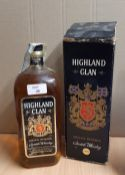 1.5 litre bottle Highland Clan blended Scotch Whisky, imported, boxed