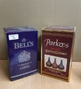 70cl Bells Diamond Jubilee blended Scotch Whisky decanter, boxed and a 70cl Parkers blended Scotch