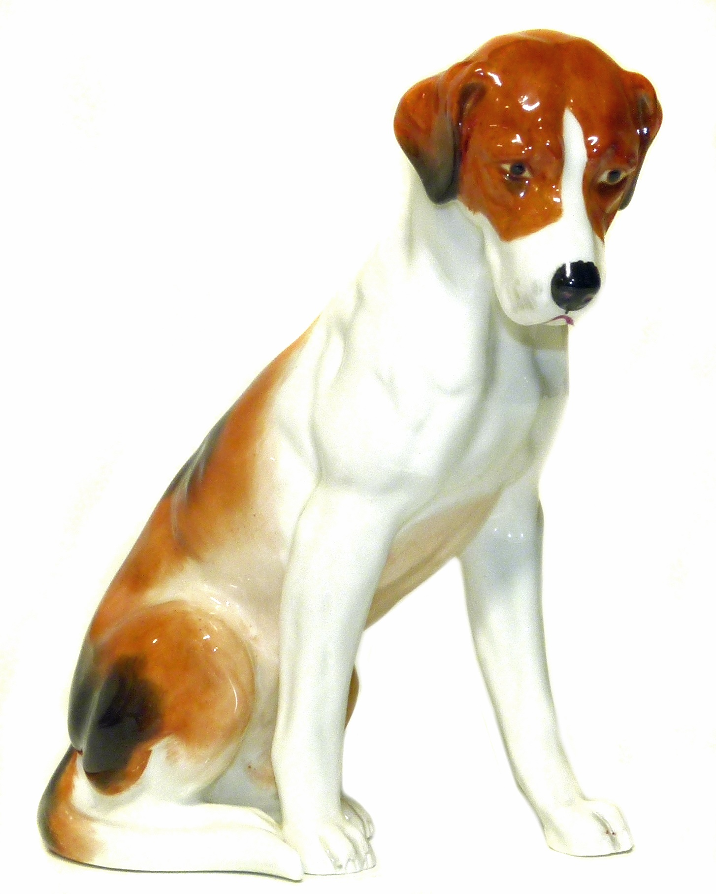 Lot 117 - Royal Worcester fox hound no.2994 We are unable to do condition reports on our Interiors Sale