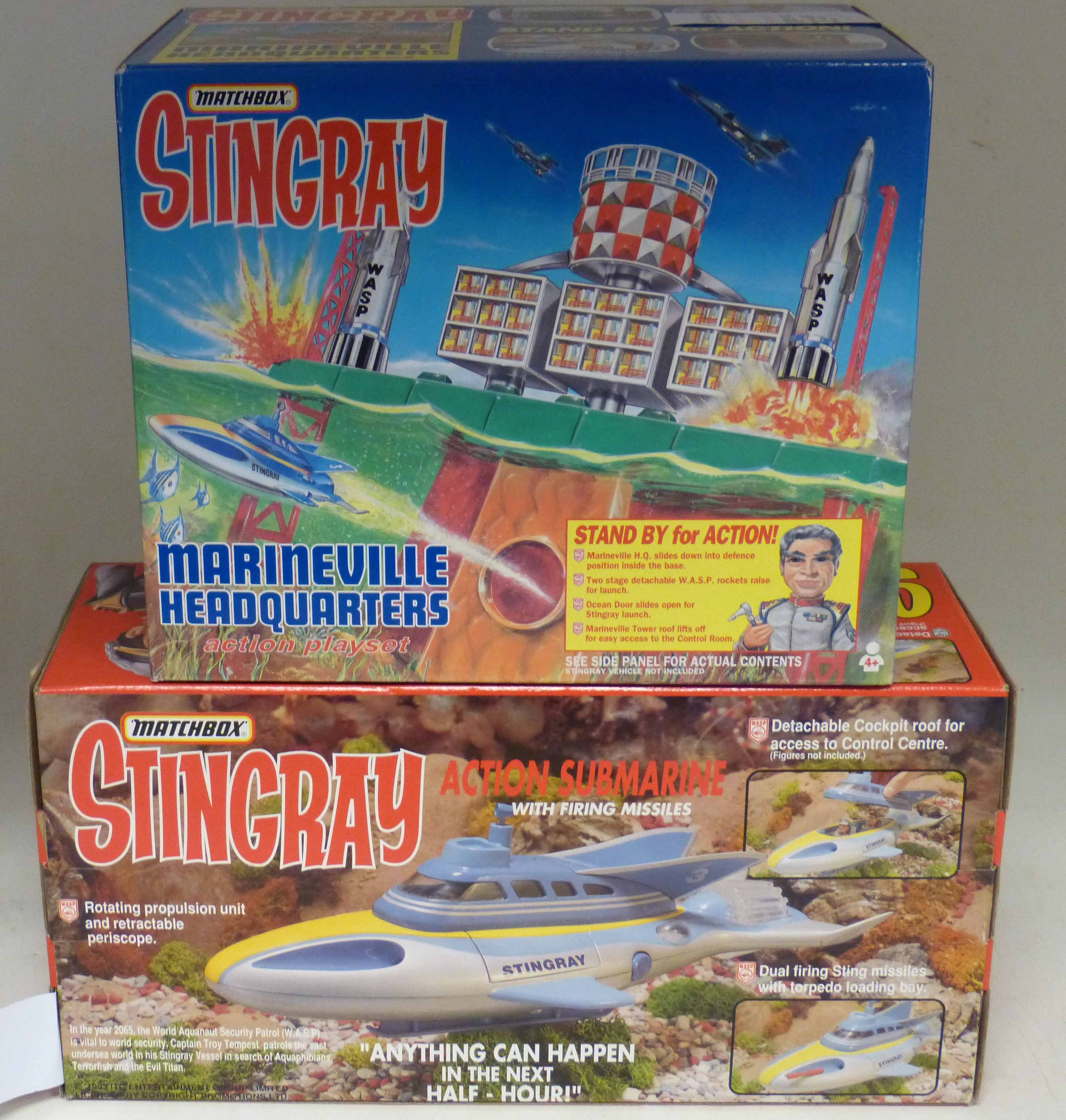Lot 85 - Boxed Matchbox marine headquarters and action submarine We are unable to do condition reports on our