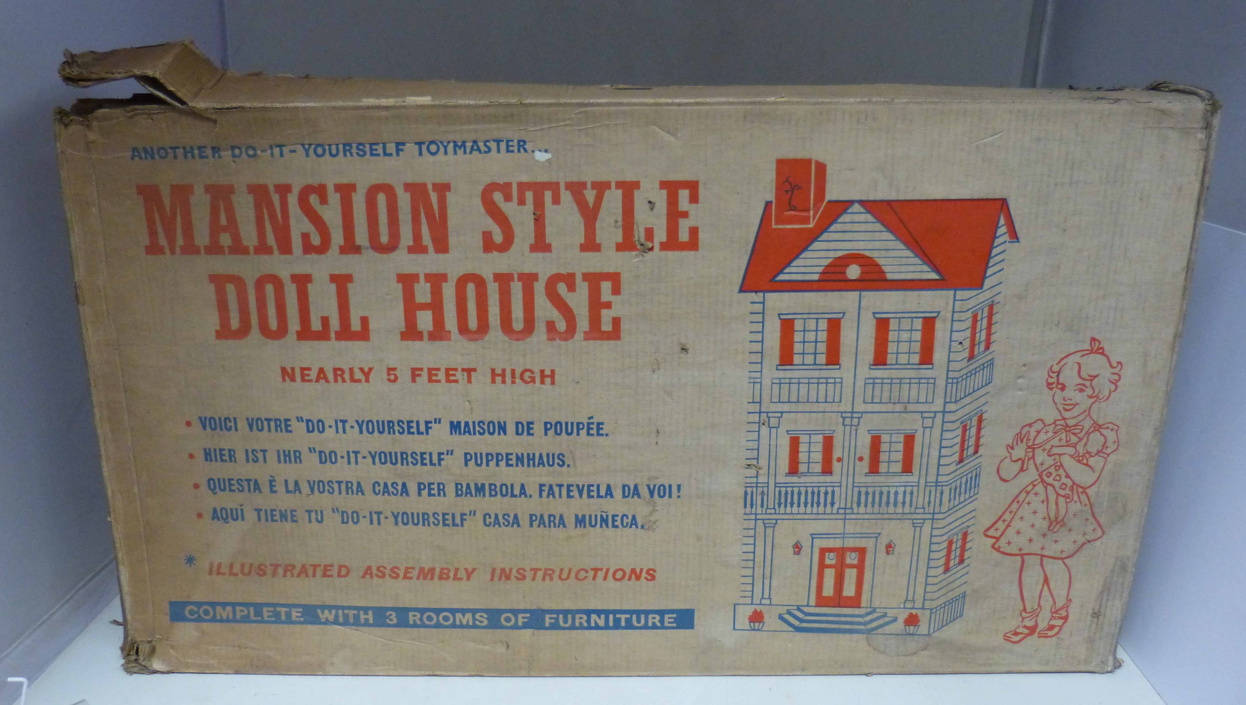 Lot 95 - Boxed Toymaker Mansion style doll house We are unable to do condition reports on our Interiors Sale